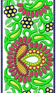 Maxi Skirt Border Embroidery Design 16821