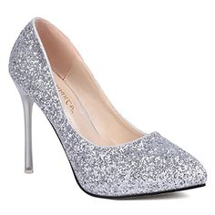 Gorgeous Women's Pumps With Sexy High Heel and Sequined Design