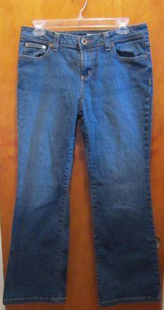 Womens DKNY Petites SOHO JEAN - Size 12 L/G - Denim Jeans Dark Wash Boot Cut  #DKNY #BootCut