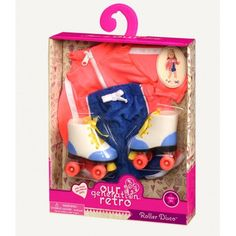 Buy Our Generation Roller Disco Regular Outfit from UK Official Reseller Our Generation World. FREE UK Delivery on orders over NEXT Day Delivery Available American Girl Clothes, American Girls, Retro Outfits, Girl Outfits, Preppy Skirt, Og Dolls, Roller Disco, Journey Girls, Our Generation Dolls
