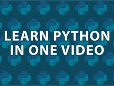 Excellent explanation of python. If you already know another programming language, you will be shocked by the simplicity!