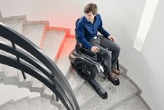 Introducing the Scewo Stair Climbing Wheelchair. This incredible device is bringing a new level of mobility to those without it. Folding Electric Wheelchair, Trike Bicycle, Wheelchair Accessories, Stair Climbing, Powered Wheelchair, Barn Living, Outdoor Cafe, Automotive Design, House Floor Plans