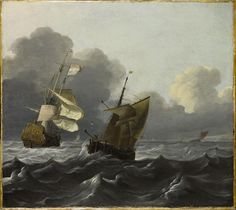 Ludolf Backhuysen - Shipping Off a Port: Storm Approaching, c. 1675-90