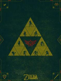 The Legend of Zelda Poster by Colin Morella