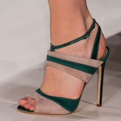 Shoespie Green and Nude Dress Sandals