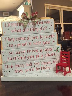 Christmas in heaven what ... $45 each made to order