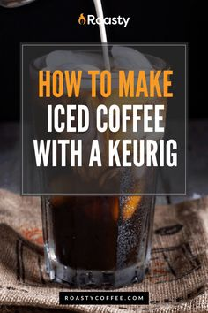 If you're trying to avoid paying money for an iced coffee when you already have a Keurig at home, you've come to the right place! It's 100% possible and surprisingly easy to do! Use our how-to guide to find out tips and tricks we've put together so you can get the most out of your home-brewed iced coffee. #coffeelovers #icedcoffee #roastycoffee #keurigcoffee Thai Iced Coffee, Vietnamese Iced Coffee, Making Cold Brew Coffee, How To Make Ice Coffee, Coffee Course, Coffee Brownies, Coffee Benefits, Coffee Cream, Coffee Is Life