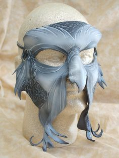 Great Owl Leather Owl Cosplay Mask Secret of NIMH by PlatyMorph