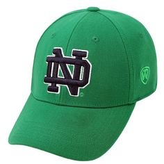 Adult Top of the World Notre Dame Fighting Irish One-Fit Cap, Brt Green