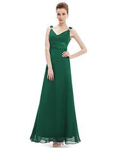 56b03e3ee99 Ever Pretty Womens Double V-Neck Sleeveless Evening Dress... https
