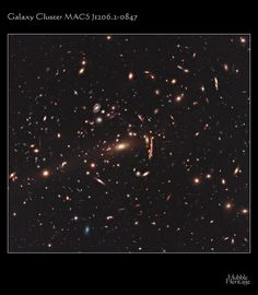 Hubble Heritage - galaxy cluster and gravitational lensing
