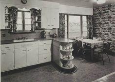 Kitchen:Vintage Apron Country Kitchen Sink Craigslist With Backsplash Kohler Irwell Retro Sinks Base 1940 Style Ideas Cast Iron Drain. Country Kitchen Sink, 1940s Kitchen, Vintage Kitchen, Kitchen Decor, Kitchen Layout, Kitchen Ideas, Black Kitchen Faucets, Kitchen Sinks, 1960s House