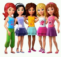 Lego friends, Olivia, Mia , Stephanie , Emma, Andrea