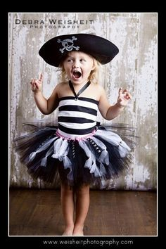 SWASHBUCKLING SWEETHEART Pirate Tutu Set with Reversible Corseted Top, Eyepatch and Hat. $85.00, via Etsy.