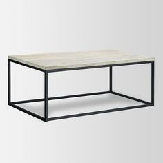 Box Frame Coffee Table - Mango Wood | West Elm - $349 I like the light, open feeling this coffee table provides. Could easily put a basket or two underneath to store throws, magazines, etc.