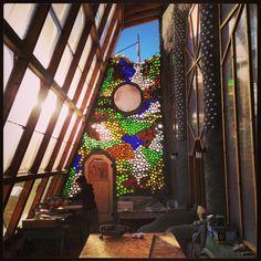 Earthship Global: glass wall