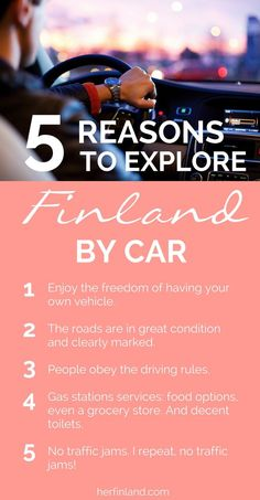 Finland is a great country to explore by car! Rent a car and road trip Lapland, Lakeland or Southern Finland. Click over to read local's tips on driving in Finland #Finlandtravel #roadtrip #ThingsToDo #Finlandadventure