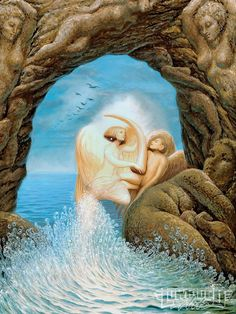 Octavio Ocampo Metamorphosis Art Woman And Arch, picture for your beach room or beach bathroom Optical Illusion Paintings, Art Optical, Optical Illusions, Metamorphosis Art, One Photo, Street Art, San Francisco Art, Hidden Pictures, Unusual Art