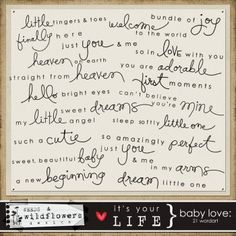 make my own additive piece Baby Quotes, Quotes For Kids, Love Quotes, Kid Quotes, Scrapbook Titles, Baby Scrapbook, Kids Photo Album, Project Life Baby, Baby Photo Books