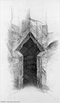 The Paths of the Dead by John Howe (concept for The LotR movie)