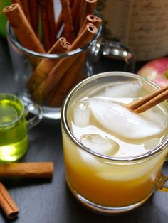 Apple Cider and Ginger Beer Cocktail with Vodka