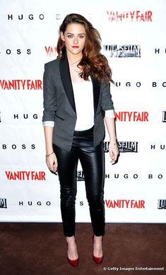 """Kristen Stewart, ultra-sexy pour la projection de """"Sur la route"""" pour Vanity Fair à San Francisco, le 7 décembre 2012."""