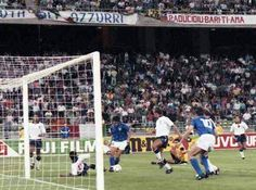 Italy 2 England 1 in 1990 in Bari. Roberto Baggio pounced on a Peter Shilton error and Italy lead 1-0 on 71 minutes in the 3rd place play-off.
