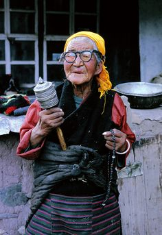 Prayer Wheel - Tibet ~~ Shared for your consideration and review.
