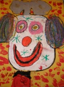 Clowns / have each child draw their own clown using shapes