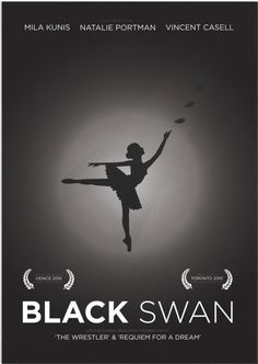 Black Swan Second Edition Illustrative Minimalist Film Poster Print. via Etsy. Minimal Movie Posters, Minimal Poster, Scary Movies, Great Movies, Awesome Movies, Movie Poster Art, Film Posters, 1969 Movie, Requiem For A Dream