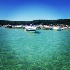 Torch lake, Michigan The clearest lake I have ever seen. Looked like someone put blue food dye in it. Gorgeous