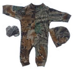 Baby Boys Camouflage Creeper Gift Set.....josh would insist our son wear this