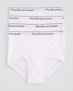 Polo Ralph Lauren Mid-Rise Briefs, Pack of 4