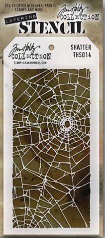 Stamper's Anonymous / Tim Holtz - Layering Stencil - Shattered,$5.99