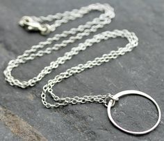 Simple Circle Sterling Silver Necklace by SimplisticaDesign, $22.00