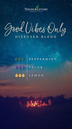 Young Living 491877590555408085 - Try this dreamy Good Vibes Only diffuser blend: Get lost in the sweet scents of this essential oil mix by combining Peppermint, Valor, and Lemon essential oils. Source by youngliving Valor Essential Oil, Young Essential Oils, Essential Oils Guide, Essential Oil Diffuser Blends, Relaxing Essential Oil Blends, Doterra, Valor Young Living, Young Living Oils, Essential Oil Combinations