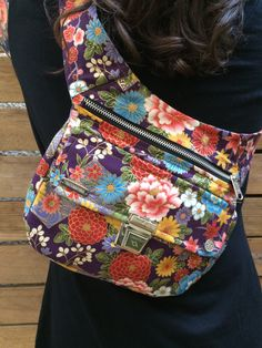 "Exclusive handmade Fanny Pack - Bag & Bandolier ""Japan Flower and Swarovski"". From Barcelona with love! Unique Piece (221)"