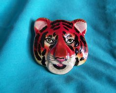Tiger Brooch by walkingwithjulann on Etsy