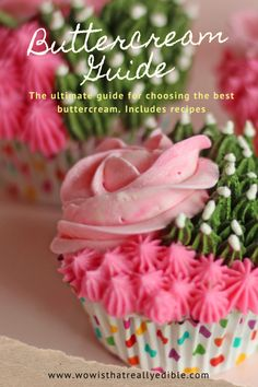 This ultimate buttercream frosting guide details eight different buttercream styles so you can choose the best buttercream frosting. Best Buttercream Frosting, Cake Frosting Recipe, Swiss Meringue Buttercream, Frosting Recipes, French Meringue, Italian Meringue, Cake Decorating For Beginners, Cake Decorating Techniques, Cake Decorating Tutorials