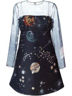 Valentino A-linien-kleid Mit Weltraum-print - Monti - Farfetch.com