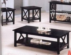 It's simple & uncomplicated. New Cappuccino Wood Coffee Table Set Wooden End Tables