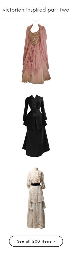 """""""victorian inspired part two"""" by sunghanshi ❤ liked on Polyvore featuring dresses, gowns, costume, long dresses, ball gowns, brown, long dress, victorian, victorian ball gowns and victorian evening gown"""