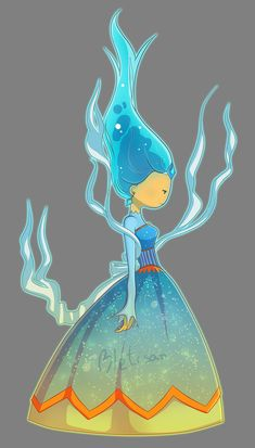 Blue Flame Queen OC by Bletisan Adventure Time Flame Princess Phoebe FP Fire Adventure Time Flame Princess, Adventure Time Drawings, Adventure Time Style, Adventure Time Princesses, Adventure Time Characters, Adventure Time Anime, Princesa Flame, Abenteuerzeit Mit Finn Und Jake, Adveture Time