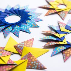 Learn how to fold these gorgeous origami stars!