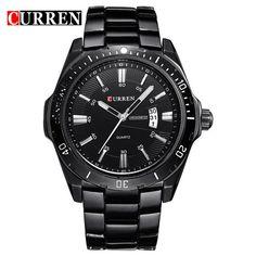 Original CURREN Luxury Brand Stainless Steel Strap Analog Date Men's Quartz Watch Casual Watch Men Wristwatch relogio masculino