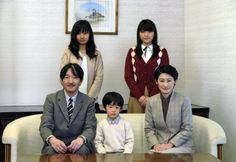 Prince Akishino and Princess Kiko with their family, his son probably will be the heir of Japanese Emperor after his father and Crown Prince Naruhito