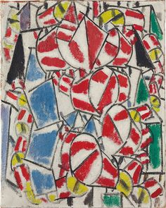Fernand Léger (1881-1955), Contraste de forms, 1913. Oil on burlap. 36⅜ x 28⅞ in (92.4 x 73.2 cm).
