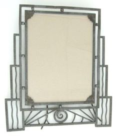 French Art Deco Skyscraper Picture Frame or Vanity Mirror  Circa 1920's, France