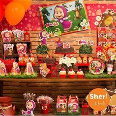 Ideas, decoración y manualidades para fiestas: Ideas para una fiesta de Masha y el oso Gingerbread, Ideas Decoración, Desserts, Food, Masha And The Bear, House Party, Diy Party, Tailgate Desserts, Deserts