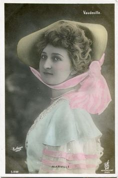 Vintage French RPPC Postcard Actress Stage Star Miss Marville Reutlinger 2 | eBay